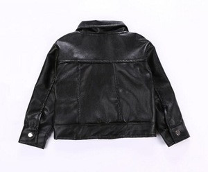 New Style Baby Girls Children leather Jacket