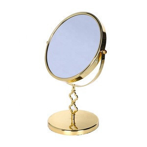 New style classical gold plated magnifying makeup vanity mirror