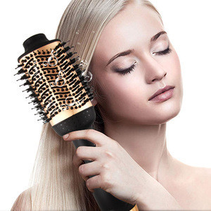 Portable Private Label 2 In 1 Multifunctional Hot Comb Electric Wireless Professional Salon Cordless Brush One Step Hair Dryer
