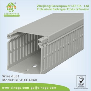 PVC Wire Duct Flame Retardant Slot Cable Duct