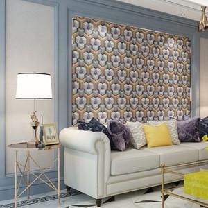 Red geometric figure wallpaper 3D PVC wallpaper for living room decoration