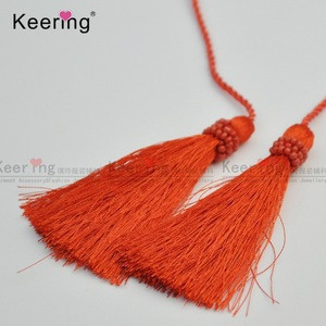 Reliable quality long cord tassel fringe with beads  for bags dress garments WTR-147