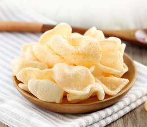 Shrimp prawn cracker fried delicious seafood snack