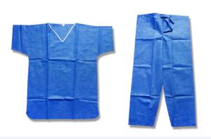 Stretch Material Blue Operating Theatre Scrub Suit Design Hospital Uniforms