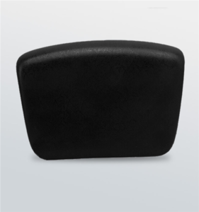 Universal square black bathtub pillow with suction cups