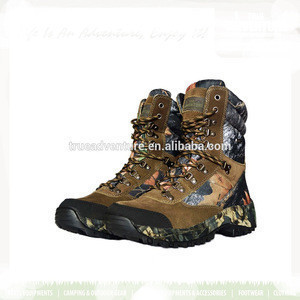 Waterproof rubber rain black military camo fishing boots for hunting