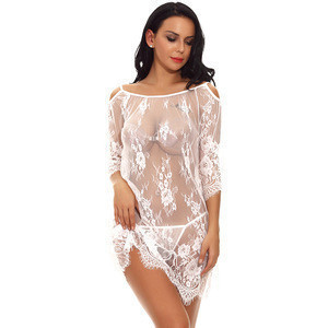 Import White Explosion Lace Hanging Neck Strap Sexy Lingerie Women Sexy Underwear from China