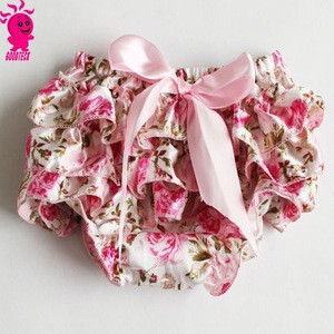Wholesale baby clothes,new born small fresh flower baby bloomer with bow