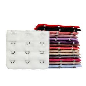 Wholesale High quality Bra Hooks,3 Rows Back Closure White Black Pink Extension Bra Clasps