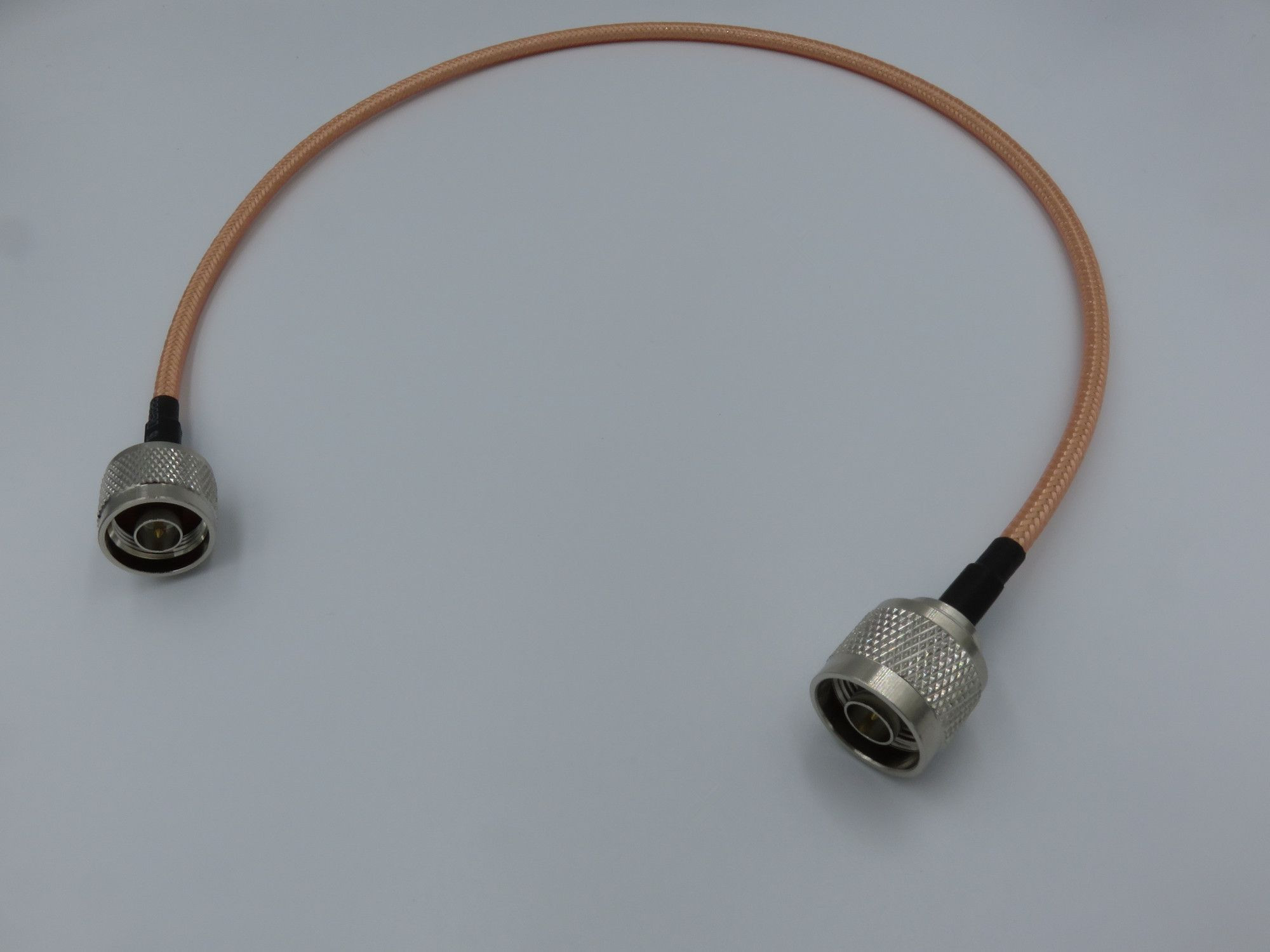 RF coaxial 500mm RG142 jumper cable assembly with N male crimp and N male crimp connectors