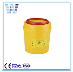 Certified Plastic Round Medical Safe Sharps Container