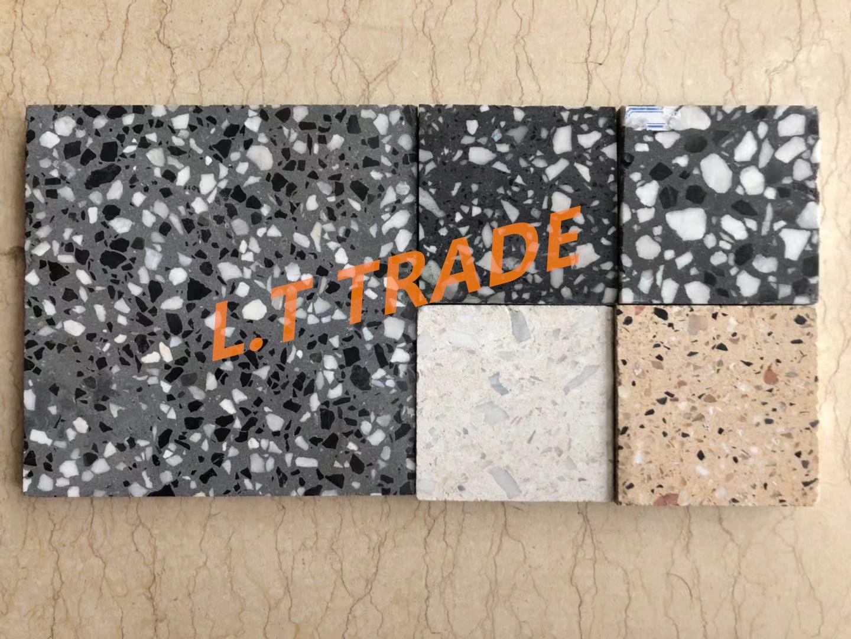 Bespoke Anti-Slip Terrazzo Pavers Floor Tiles for Public Floor Use