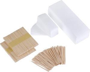 100pcs packing 7cmx21cm OEM logo  disposable hair removal Muslin Depilatory wax Strips