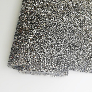 24*40cm Self rhinestone adhesive grey color 3mm resin hot fix rhinestone sheet for dress DIY shoes