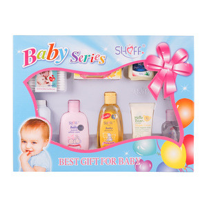 9pcs OEM/ODM natural aromatic baby skin care gift box for Mommy Baby daily use.