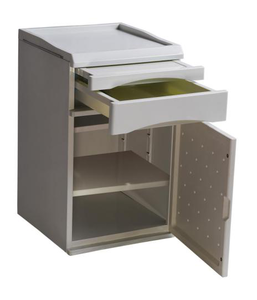 ABS material wholesale price mobile hospital bedside cabinet
