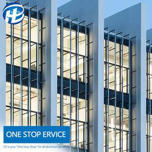 Aluminium glass wall designer aluminium facade Hanging Glass curtain wall glazing jobs