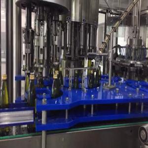 Automatic Alcohol / Glass Bottle Filling Machine / Wine Bottling Equipment