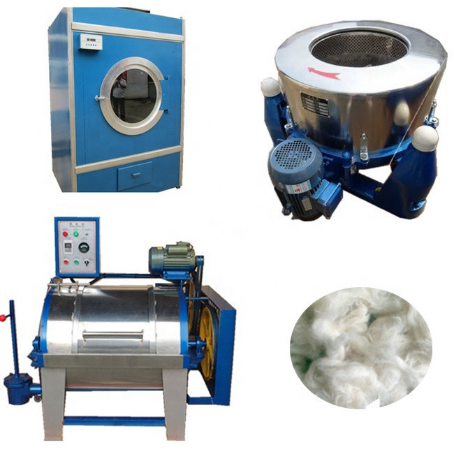 Automatic Wool Washing Cleaning Drying Machine Wool Washer Dryer Production Line for sale