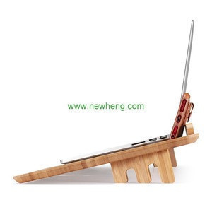 Bamboo Multi-function Portable Folding Laptop Stands Bamboo Tray Desk Cooling Pad
