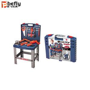 Blue bricolage tool set toys for boys