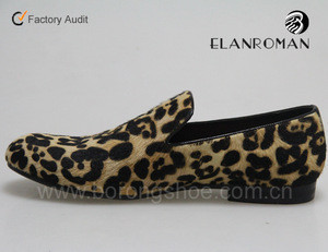 BORONG Classical mens loafers shoe Leopard lines men loafer shoes wholesale