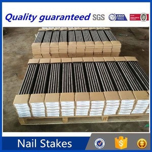 Building materials round nail stakes for concrete forms , titanium nail stakes