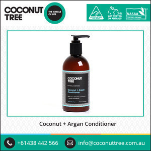 Coconut and Argan Hair Conditioner from Australia to Add Softness Shine and Moisture from Roots to Tips