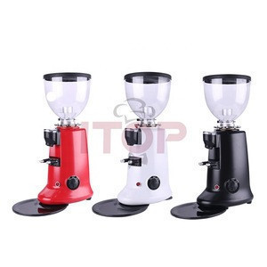 Commercial industrial aluminum housing electric coffee grinder burr automatic Cappuccino coffee bean grinder