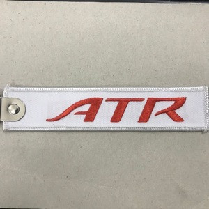 Custom aviation embroidery keychain embroidered key chain
