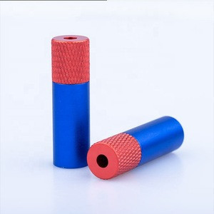 Custom fashion leather string ending color aluminum metal cord end stopper