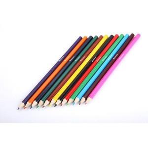 Custom printed wooden art 12 colored pencils