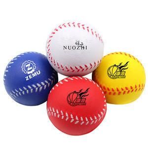 Custom PU Foam Baseball Stress Ball