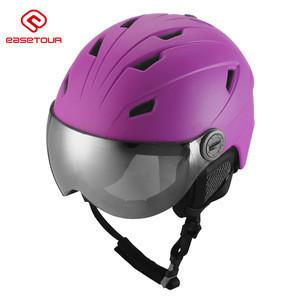 EASETOUR Hot selling ski helmet/ adult ski helmet with goggle lens TSSH301