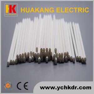 Four hole ceramic alumina tube for cartridge heaters