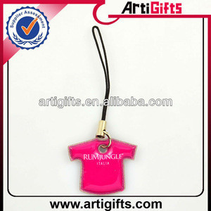 Handmade fashion mobile phone strap with custom logo