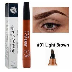 High quality 4 Fork Tip Tattoo Long Lasting Professional Fine Sketch Eye Brow Pen Liquid Eyebrow Pencil