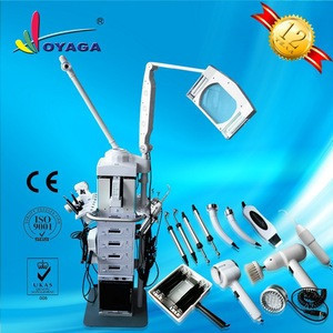 Hot sale 19 in 1 multifunction facial beauty machine with magnifying lamp