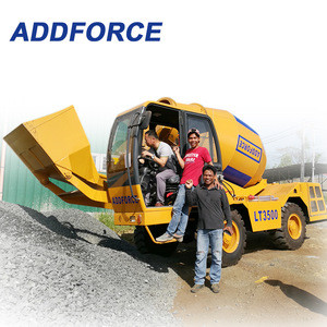 Hot sale self-propelled concrete mixer truck in china