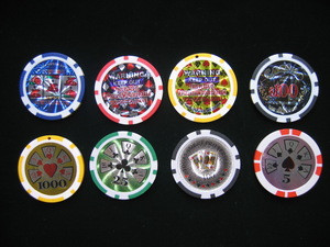 Hot saling Laser Stickers Casino Poker Chips