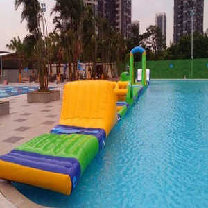 Inflatable float water park Aqau park jumping trampoline water challenge floating games