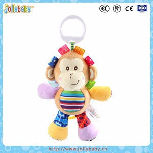 Jollybaby stuffed plush wind up musical toy baby swing crib hanging toy
