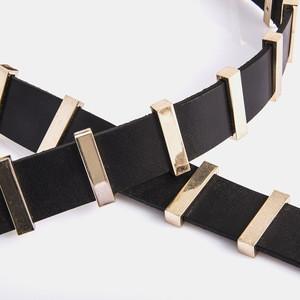 Ladies fashion fancy belt high elegant leather belts fashion beaded belt