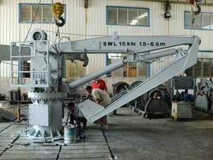 Marine Knuckle jib crane