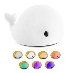 Multicolor LED Night Light for Kids Soft Dolphin Silicone Baby Nursery Lamp