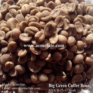 Natural and Bulk Packaging Raw Green Coffee Beans
