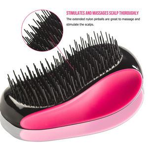 New S Shaped Design Detangler Salon Styling Travelling Hair Care Comb Tool Portable Plastic Bristle ABS Hair Brush