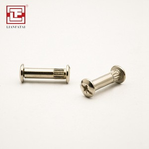 Nickel finished bolt hardware M4 M6 M8 furniture connector bolts