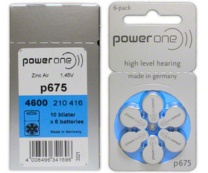 Power one Hearing aid battery 1.4v zinc air button cell battery