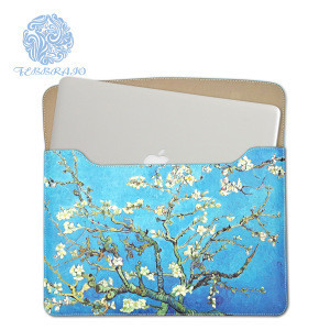 Premium laptop sleeve bag for 11-15inch MacBook Pro & Air Water Repellent Vertical Protective Case Cover flower printing